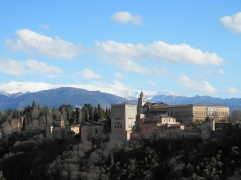 View of the Alhambra and Sierra Nevada