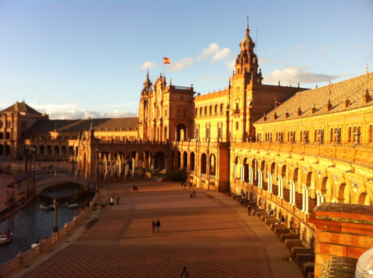 Visiting friends in Seville in March- Plaza Espana