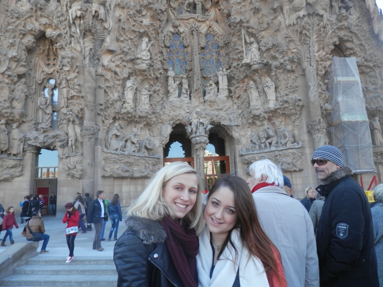Me and Alice at The Sagrada Familia in December