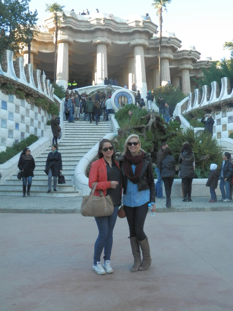 Me and Alice at Parc Guell in December